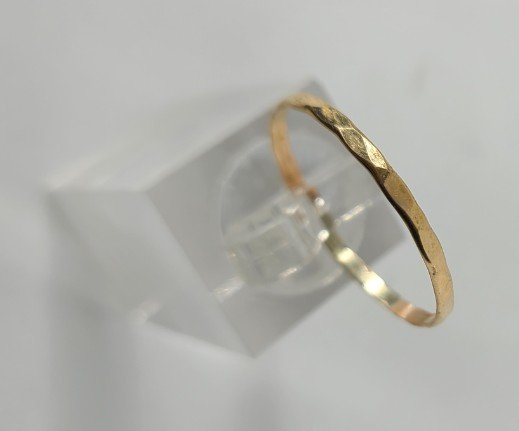 14K Gold-Fill Thin Hammered Big Toe Ring