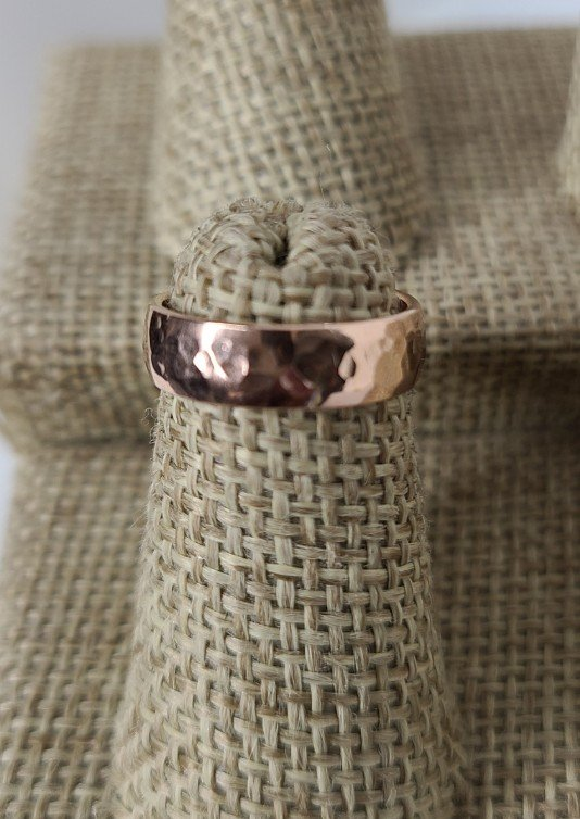 Rose Gold Thick Hammered