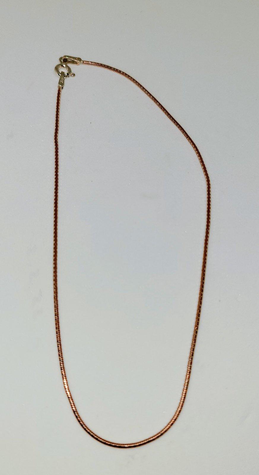 Anklet #8 Rose Gold Snake - CLOSE OUT