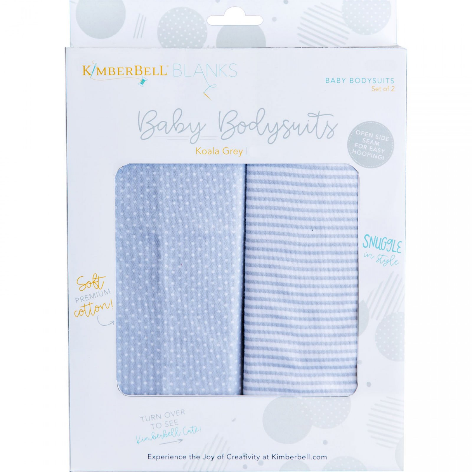 KIDKB217 - 3-6 Mo Koala Grey Baby Bodysuit