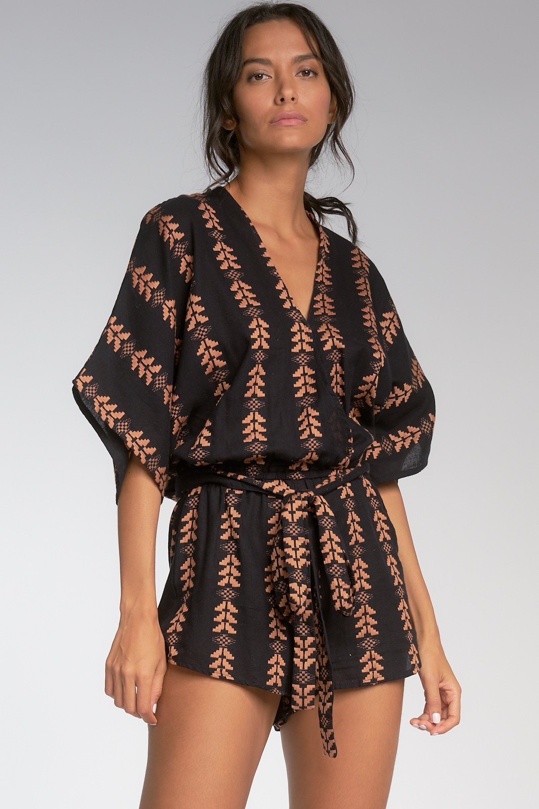 On the Straight and Arrow Print Romper