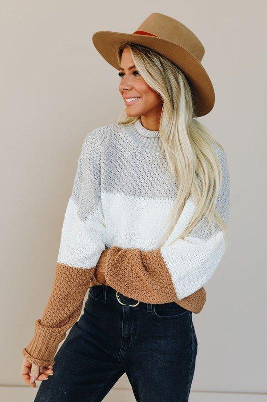 All Talk Color Block Sweater