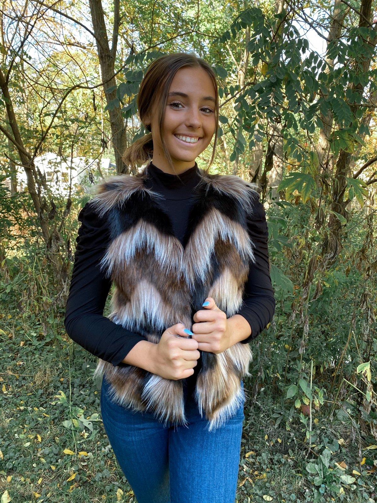 BBD Brown Combo S/L Faux Fur Vest