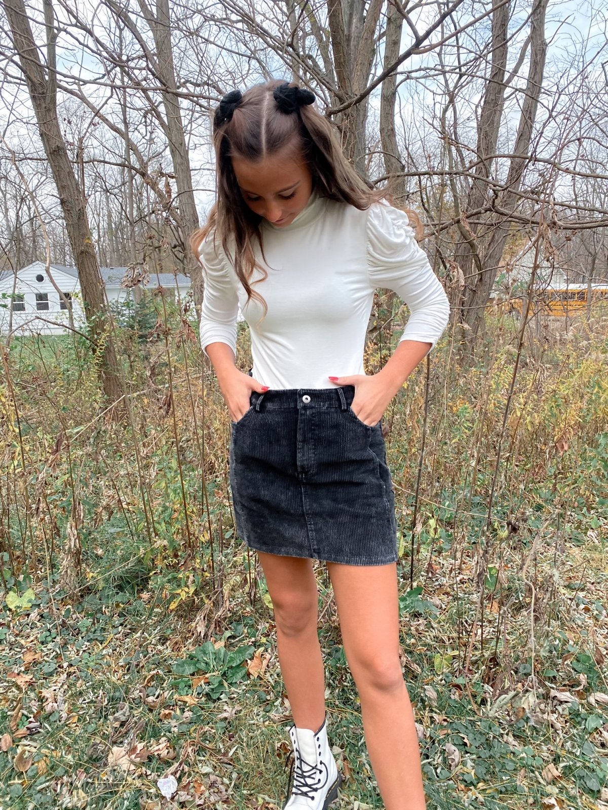 SS Assorted Corduroy Pkts Mini Skirt