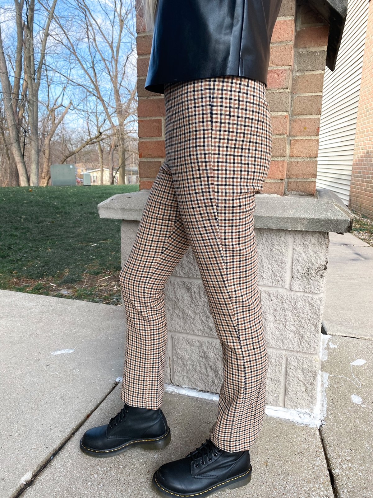 Check Mate Ankle Flare Pant