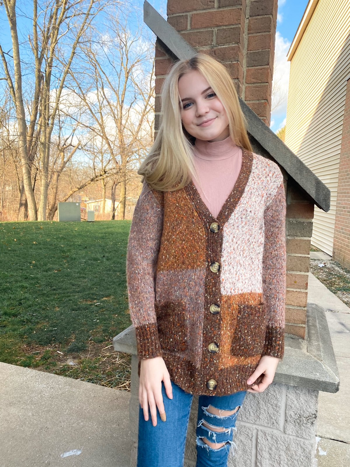 New Kids on the Color Block Cardi