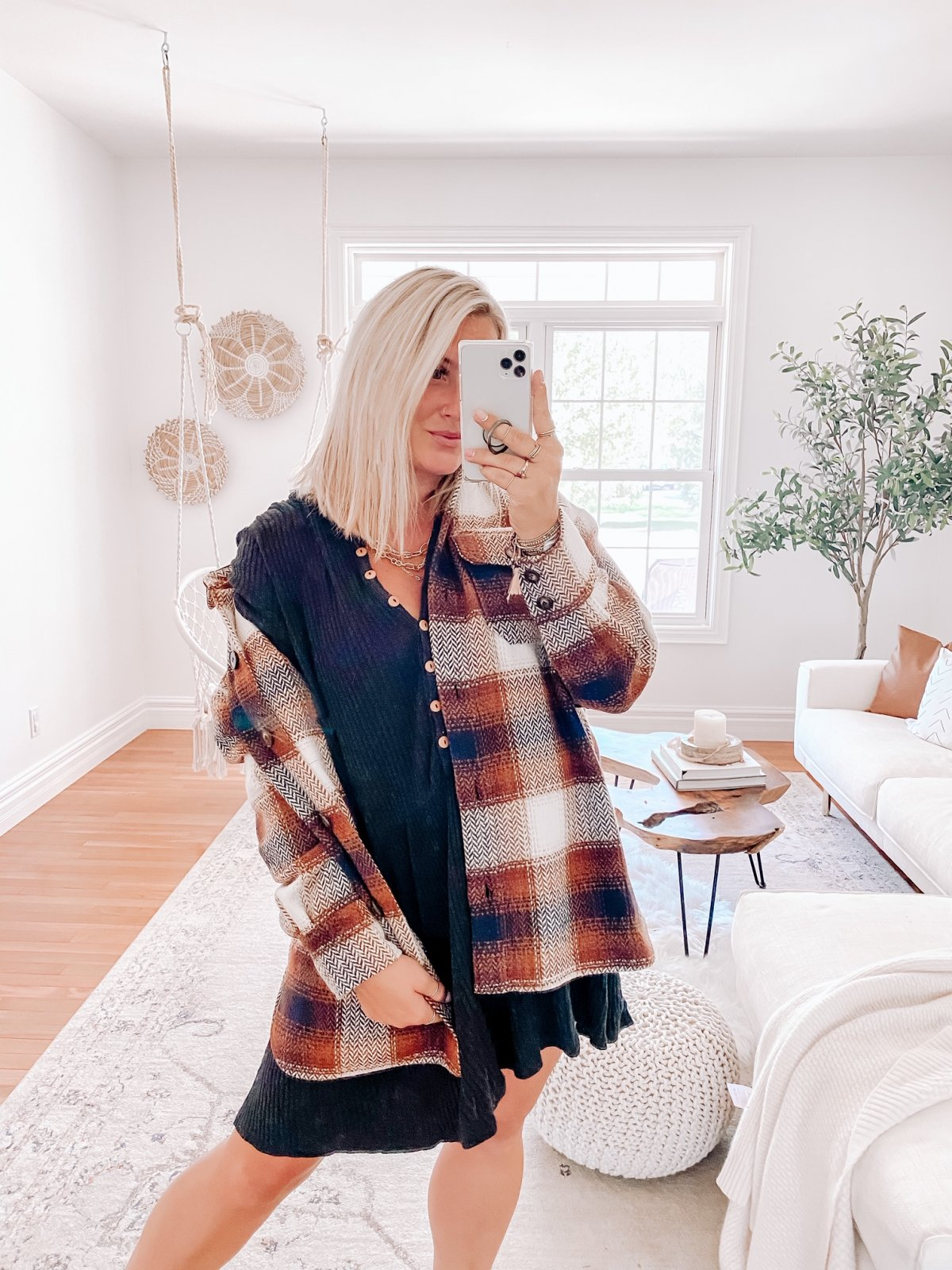 SS L/S Btn Up Plaid CPO Jacket