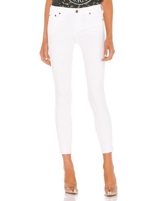 Clean Cut White Skinny Jean