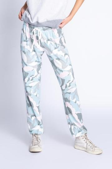 Lets Zoom in Camo Bloom Joggers