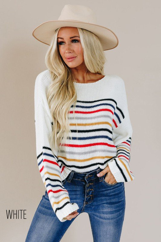 No Gripes All Stripes Sweater