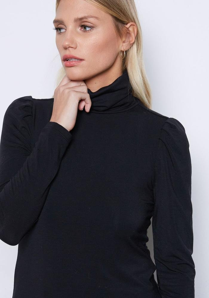 Never Enough Puff Turtleneck