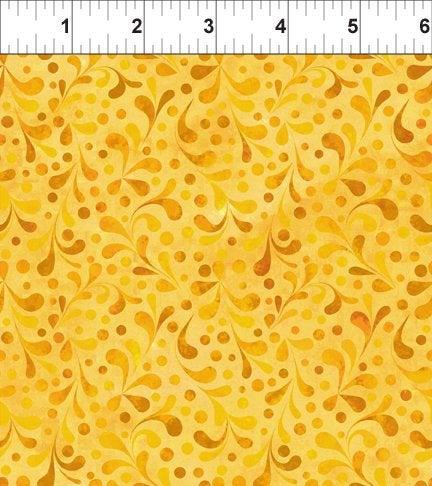 Ajisai by Jason Yenter - C6AJI-4 - Yellow Tonal Swirl