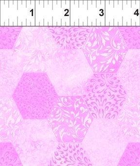 Ajisai by Jason Yenter - C5AJI-6 - Light Purple Tonal Hexagons