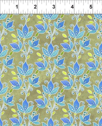 Ajisai by Jason Yenter - C4AJI-1 - Blue Leaf Vines