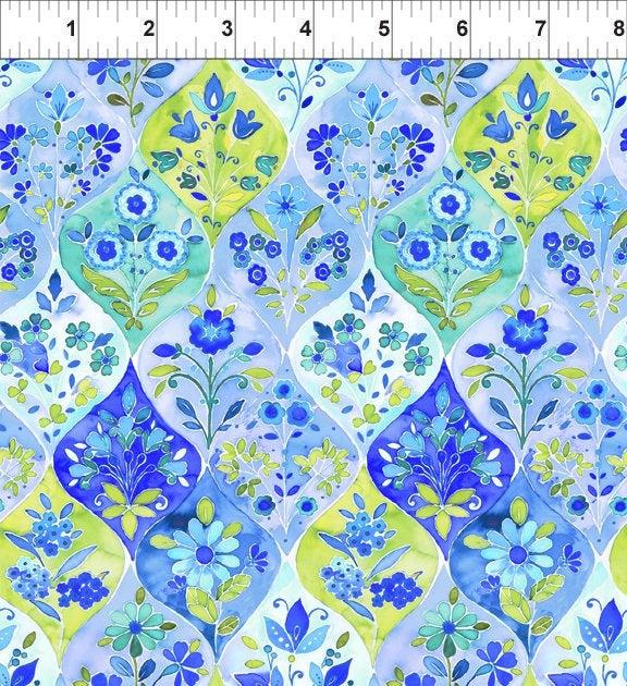Ajisai by Jason Yenter - C3AJI-1 - Blue Ogee Floral