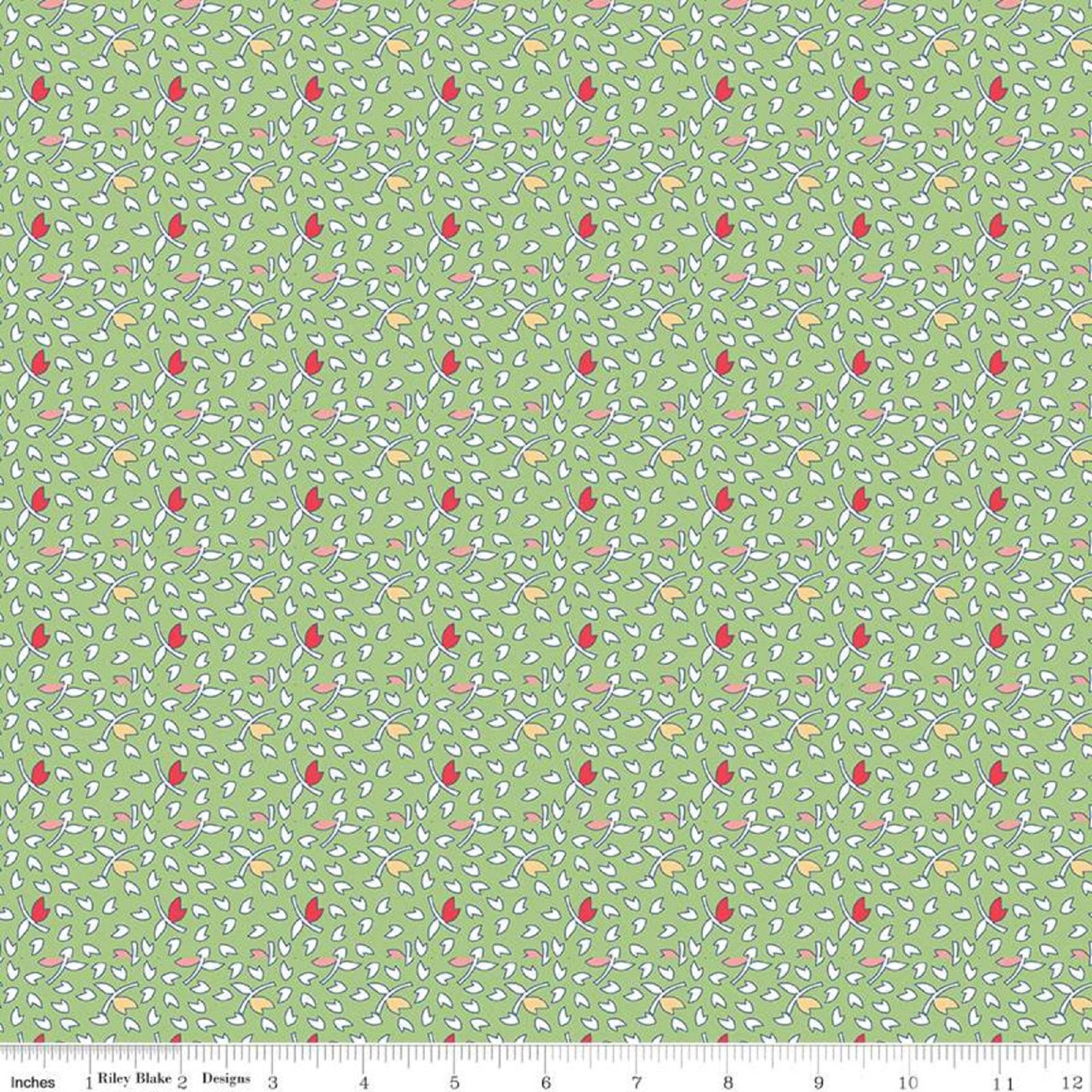 Vintage Happy 2 - Leaves - Green