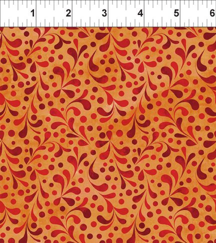 Ajisai by Jason Yenter - C6AJI-2 - Orange Tonal Swirl