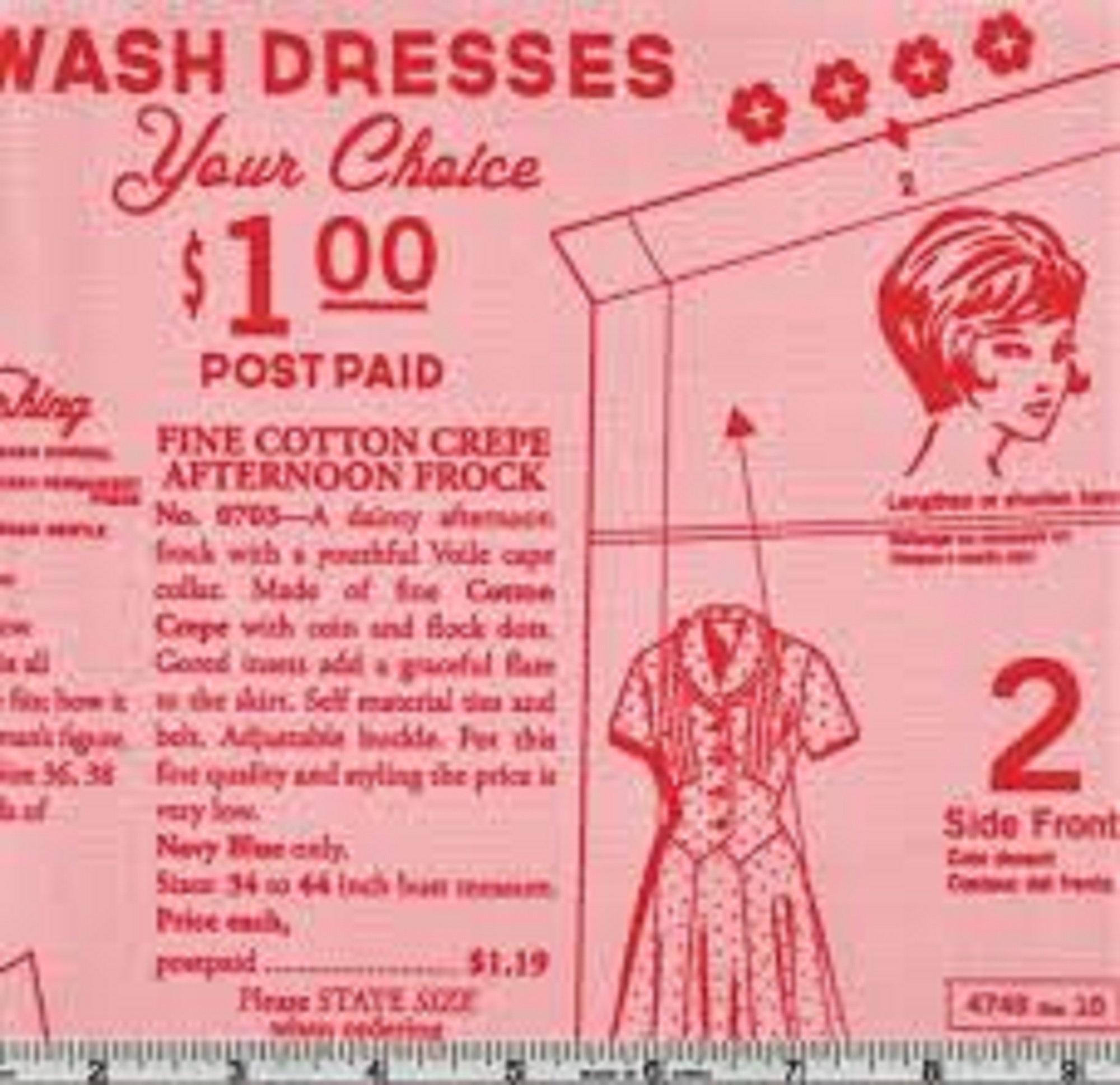 Vintage Happy 2 - Dressmaking - Coral