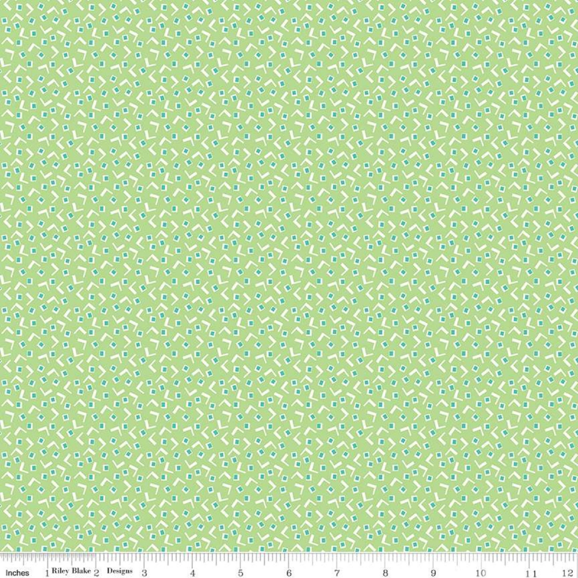 Vintage Happy 2 - Tiny Squares - Spring Green