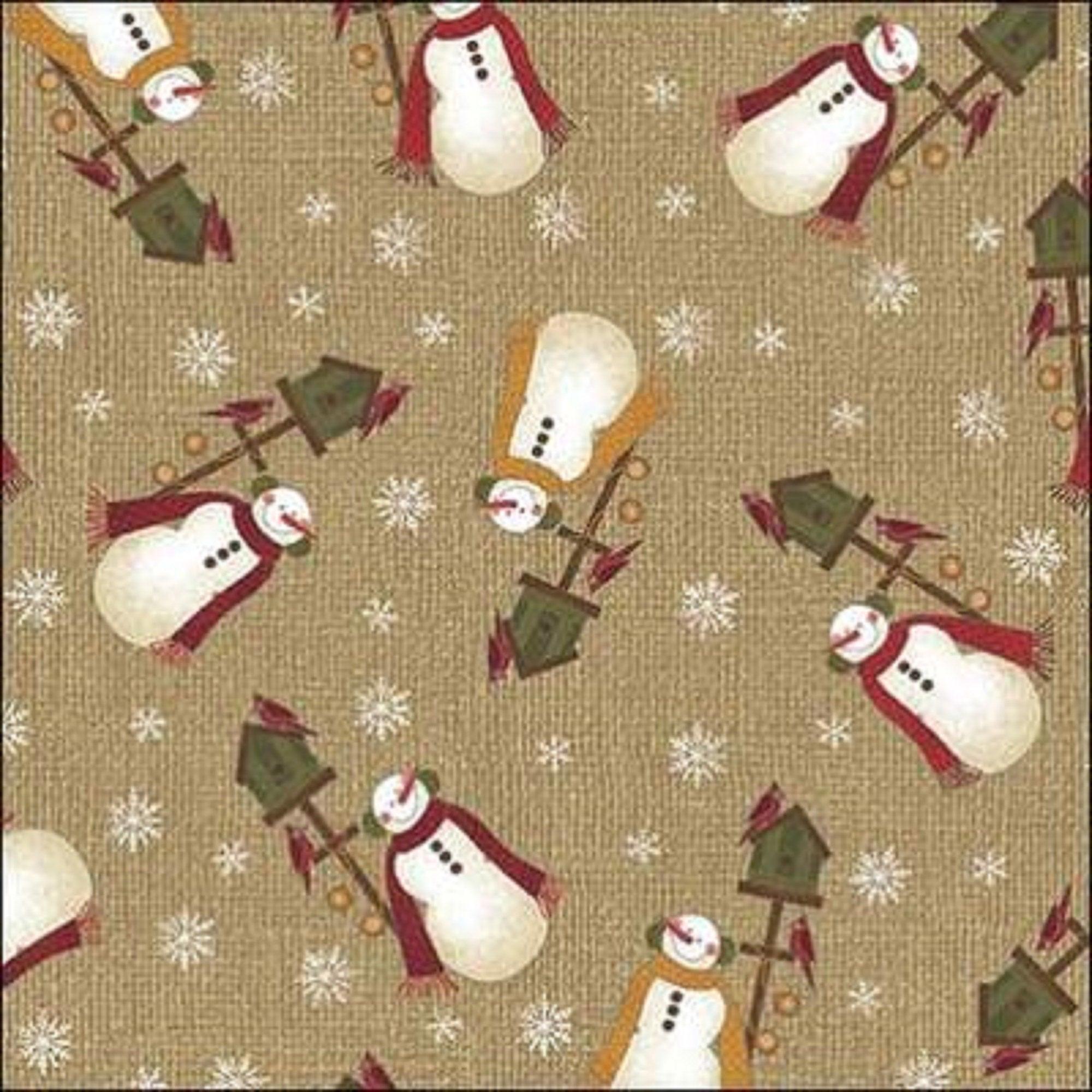 Winter Wonderland - Winter Snowman - Tan
