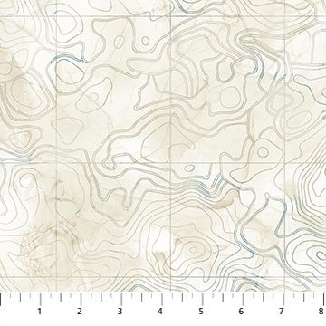 Sail Away - Northcott - Scrolled Map - Beige