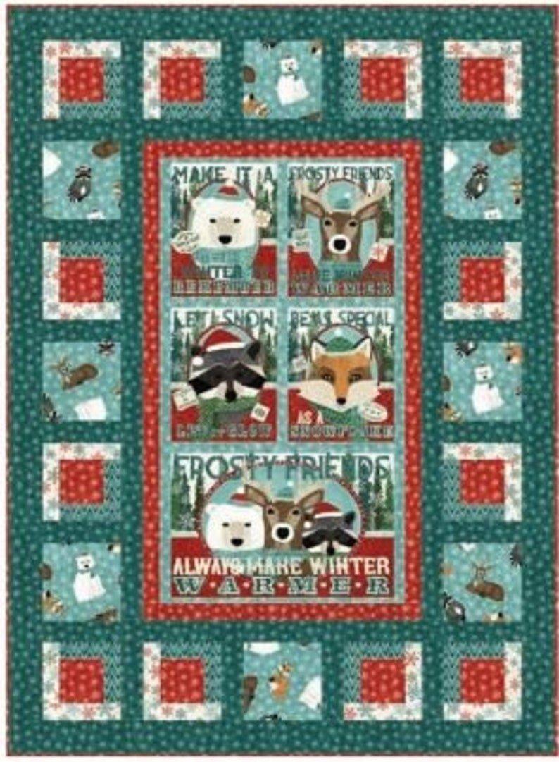 Frosty Friends Lap Quilt Kit