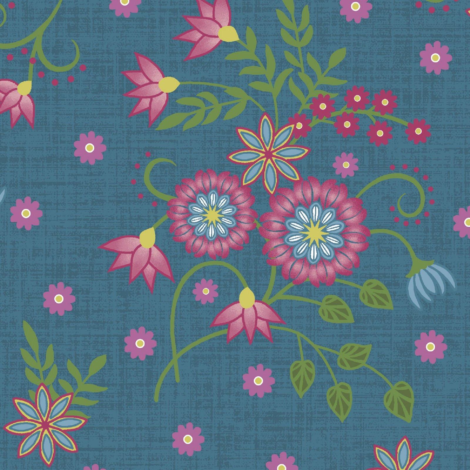 Flower & Vine - Floral Allover - Blue