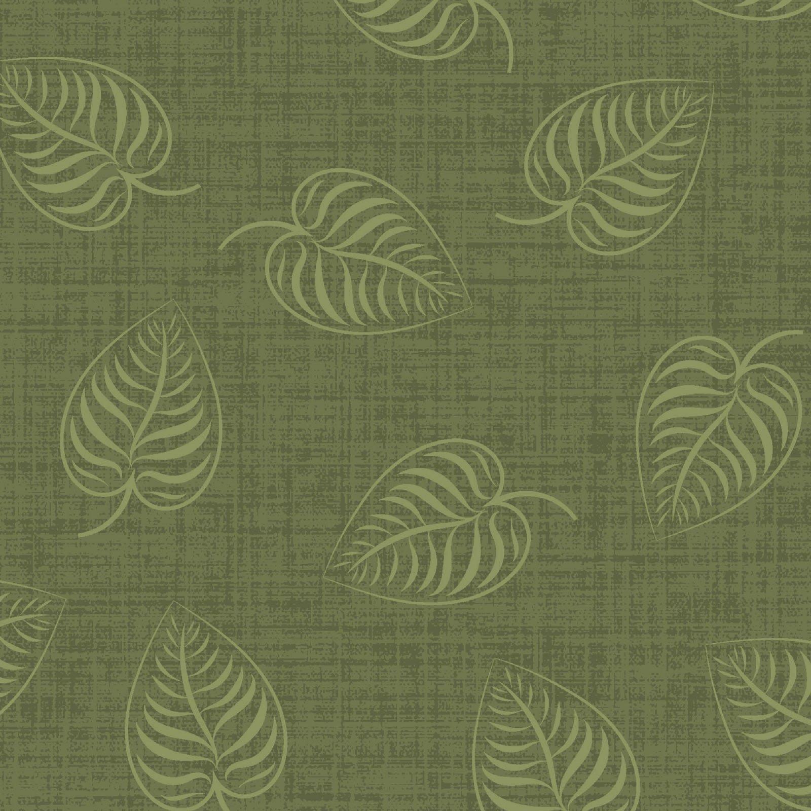 Flower & Vine - Leaf Print - Green