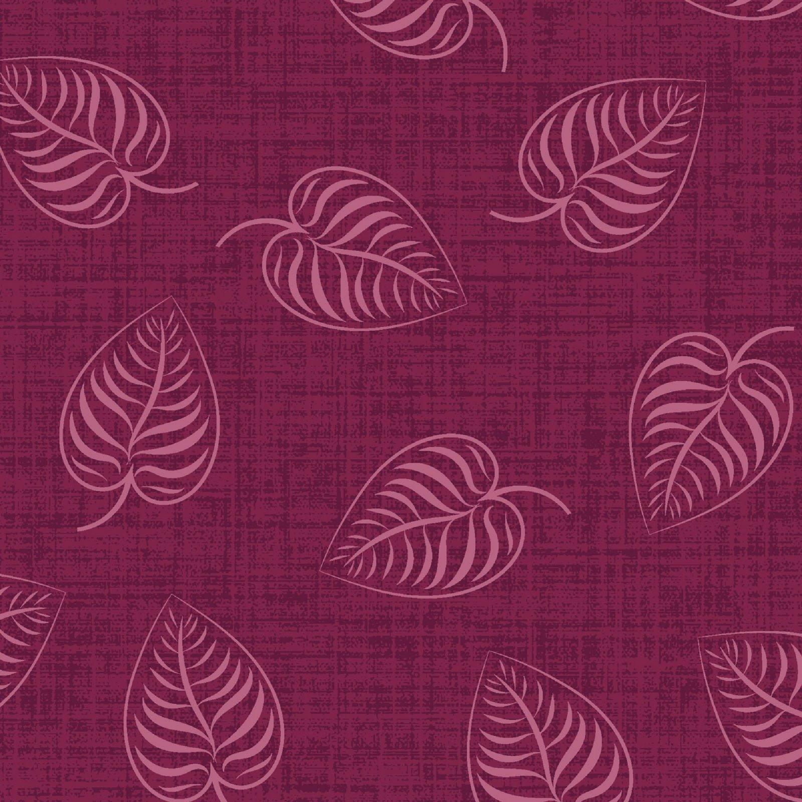 Flower & Vine - Leaf Print - Red