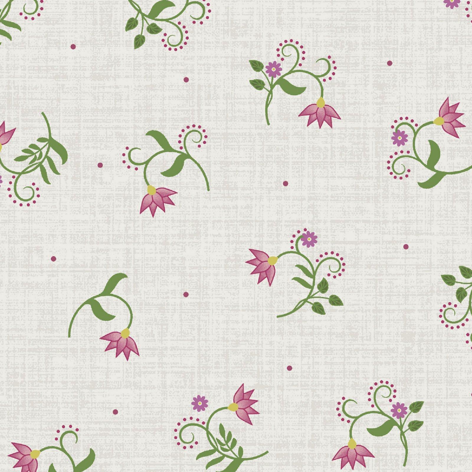 Flower & Vine - Flower Tulip - Ecru