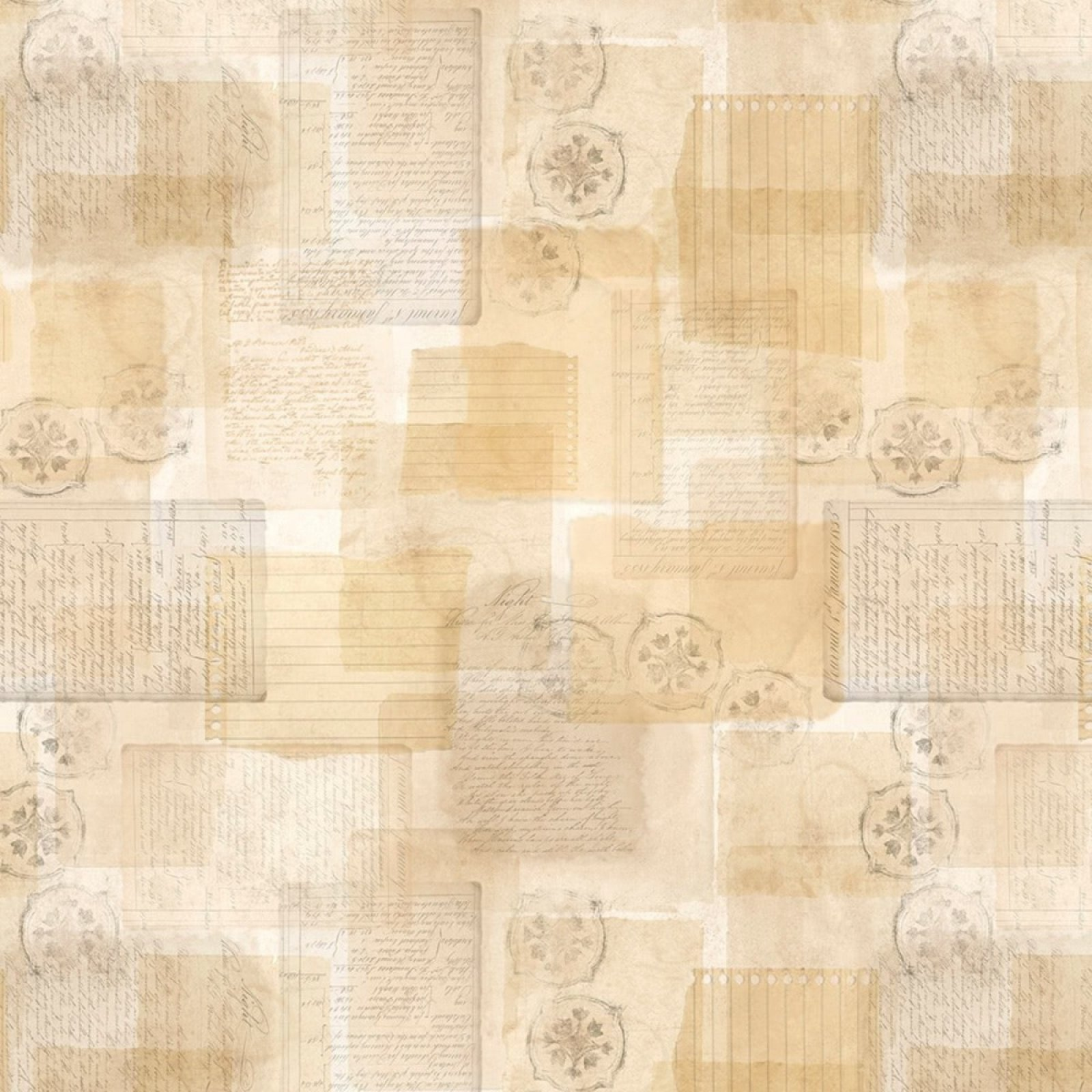 Forest Study - Parchment All Over - Tan - WP39669-252