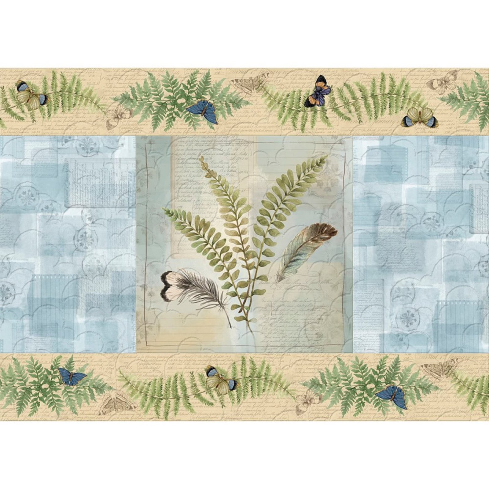 Forest Study Botanical Oasis Set of 4 Placemats Kit