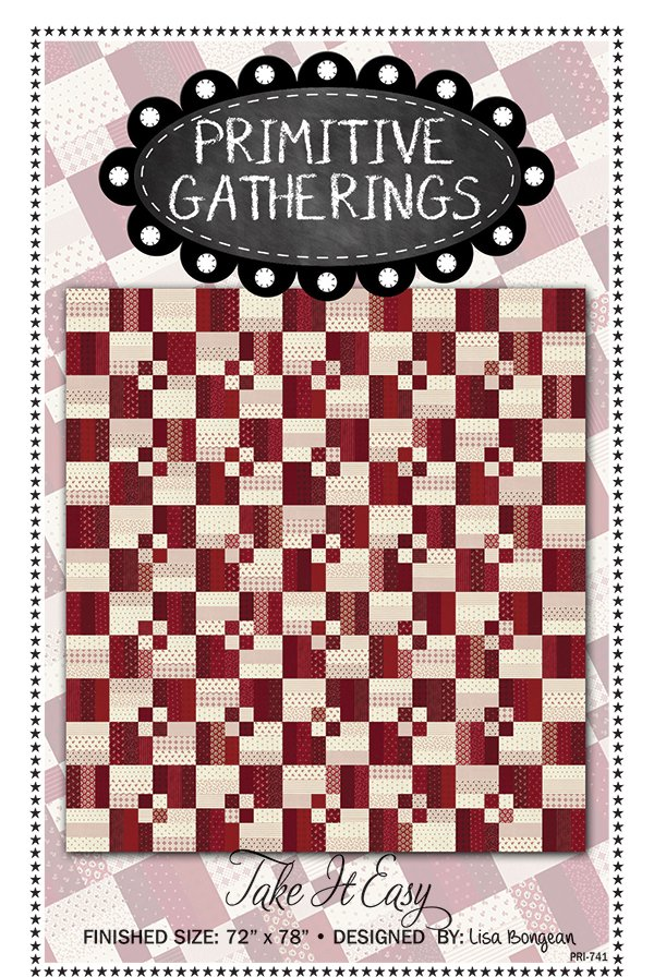 Primitive Gatherings Take It Easy Quilt Kit