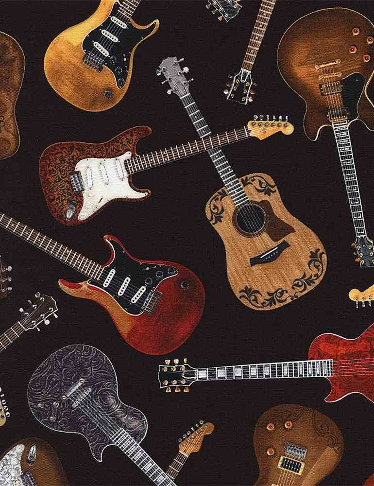 Tossed Guitars By Timeless Treasures