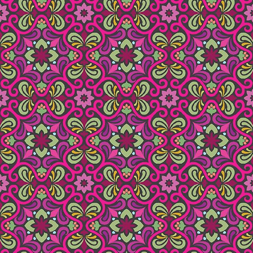 Filigree Fuchsia 10240-29 From Vintage Collection By Benartex Fabrics