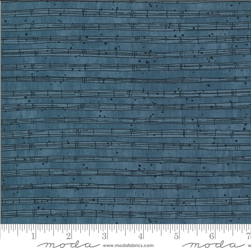 Moda The Blues Stave Fitsgerald Fabric