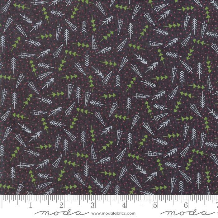 The Christmas Card Trees Charcoal 5776 23 Moda