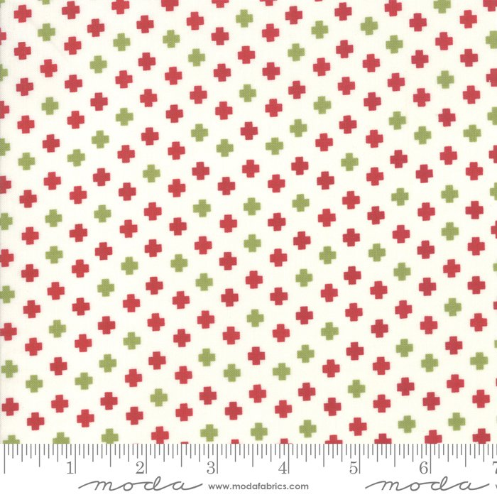 The Christmas Card Crosses Red/Green 5777 24 Moda