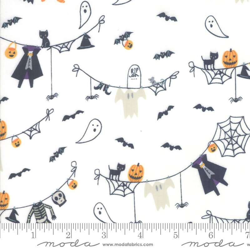Ghouls Goodies Cream 20681 11 Fabric By Moda
