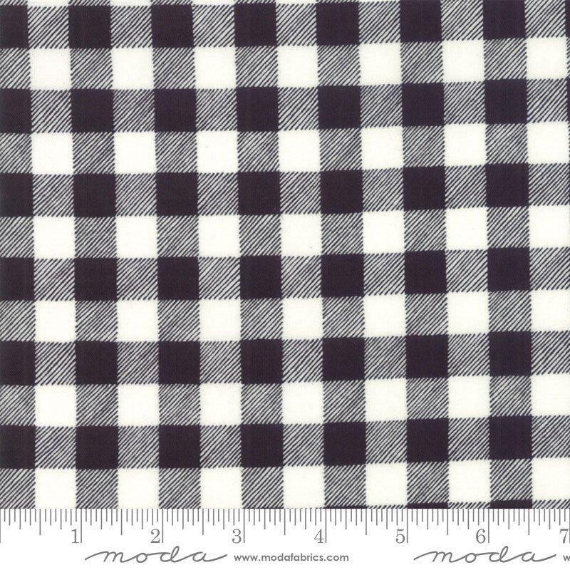 Homegrown Holidays Black White Buffalo Plaid by Deb Strain for Moda 19897-13