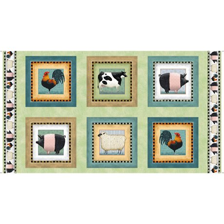 Down On The Farm - Farm Animals Picture Patches LIGHT GREEN