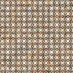 QT Fabrics Paradox CONNECTING DIAMONDS CREAM