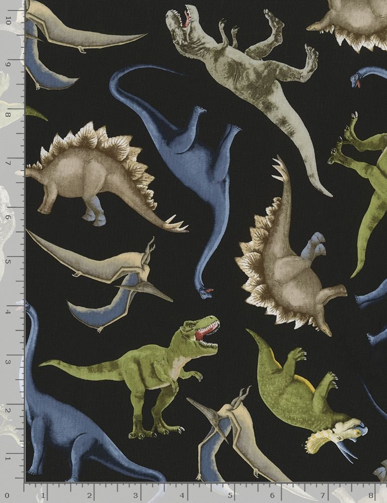 Tossed Dinosaurs C5726 By Timeless Treasures