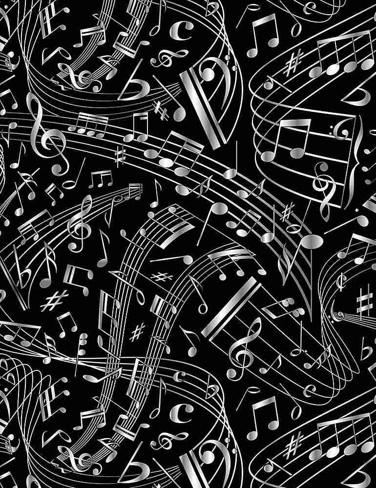 Swirling Music Notes
