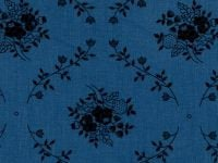 108 Quilt Backing Blue with Floral Design