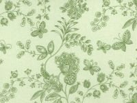108 Quilt Backing Green with Floral Design