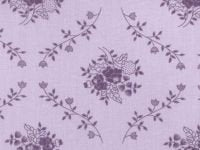 108 Quilt Backing Purple with Floral Design