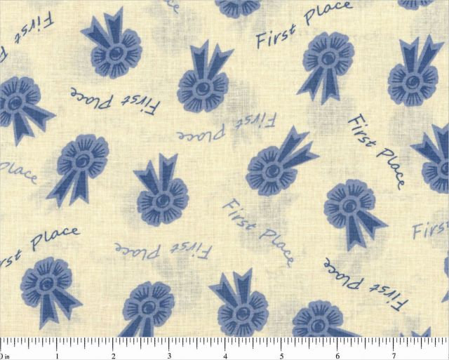 108/110 Quilt Back Blue Ribbon - First Place on Yellow R36 1019-0177