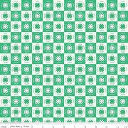 4-H Clover Blocks Cream Fabric By Riley Blake C9123
