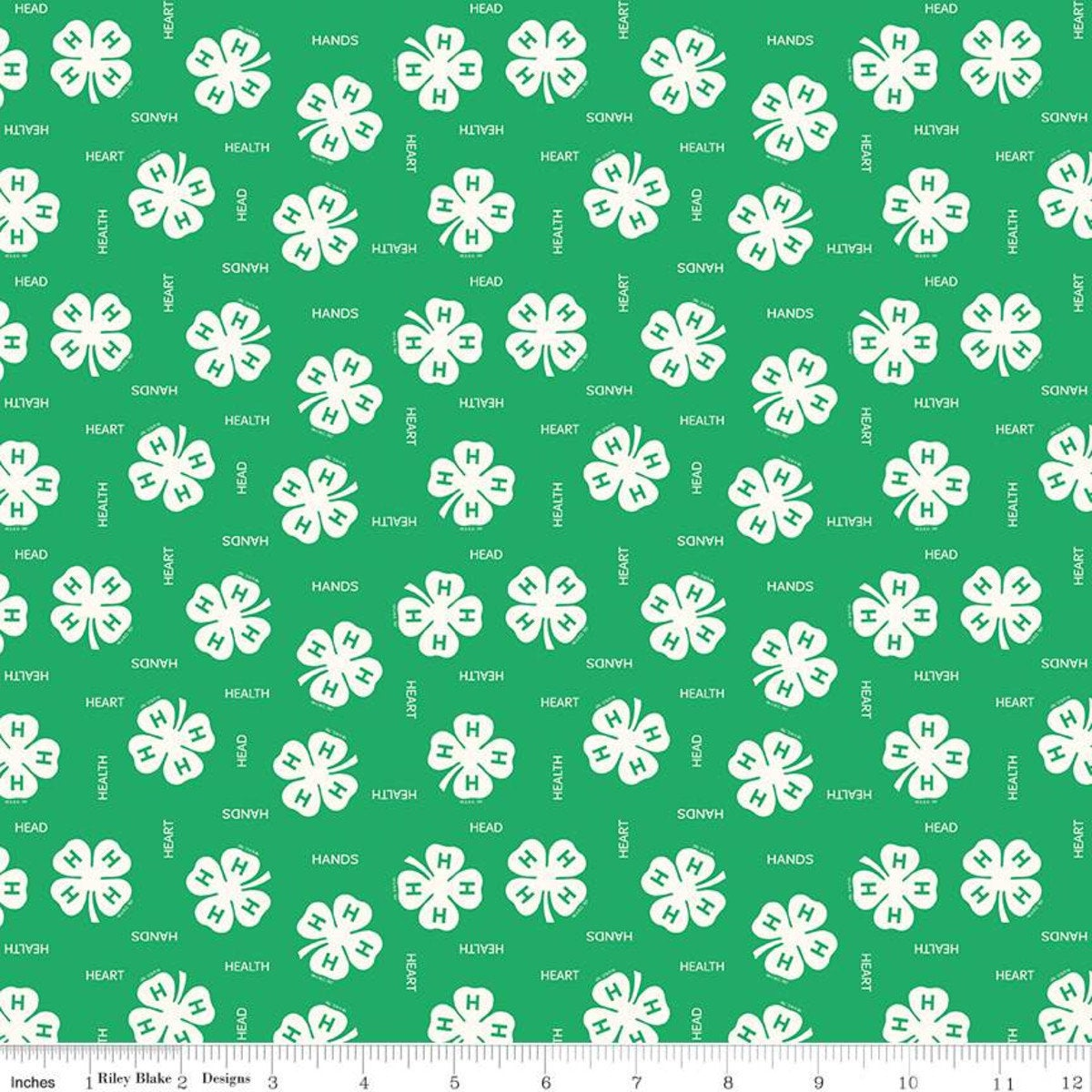 4-H Clover Fabric By Riley Blake C9121 Green